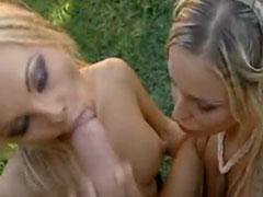 Tschechische Blondine im Freien gefickt